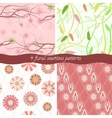 Set of 4 floral patterns vector image