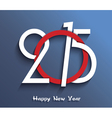 2015 Happy new year creative greeting card design vector image