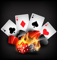 casino card shapes vector image