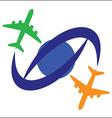 Airplane Travel Symbol vector image