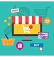 concepts online shopping and e-commerce vector image