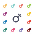 female flat icons set vector image