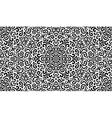 Intricate fantasy black seamless pattern vector image