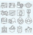 Miscellaneous icons set vector image