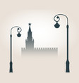 moscow cityscape skyline vector image