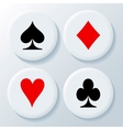 New playing cards signs vector image