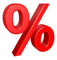 Percent sign vector image