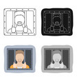 prisoner icon in cartoon style isolated on white vector image