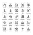 project management line icons set 5 vector image