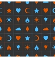 Random abstract icons seamless pattern vector image