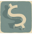 retro dollar sign vector image
