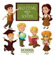 School Characters Set vector image