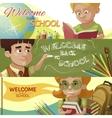 Back To School Horizontal Banners Set vector image vector image