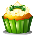 A cupcake for the celebration of St Patricks day vector image
