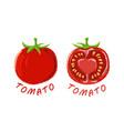 logo icon design tomato farm vector image