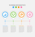 Four options infographic template for your design vector image