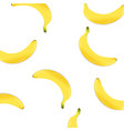 poster with banana vector image