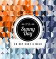 Seamless Geometric Pattern Sunny Day vector image