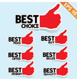 Stitcker Best tag collection - - EPS10 vector image vector image