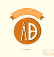 compass and protractor Education sign symbol icon vector image