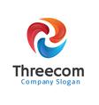 Threecom Design vector image