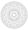 Coloring Beautiful Round Ornament vector image