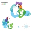 Abstract color map of Denmark vector image