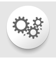 black cogs - gears on light background vector image