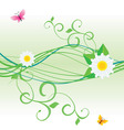 butterfly flower vector image