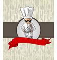 Chef cartoon restaurant menu design vector image