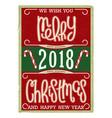 christmas vintage postcard design vector image