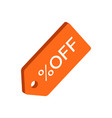 discount tag symbol flat isometric icon or logo vector image