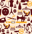 fashion beauty and sewing items pattern vector image