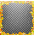 frame composed of colorful autumn leaves eps 10 vector image