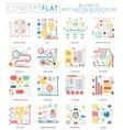 Infographics mini concept Business motivation vector image