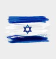 israel national grunge watercolor brushed flag vector image