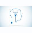 light bulb and human head idea concept vector image