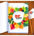 Nature rainbow leaves concept magazine page vector image