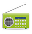 old retro radio waves tuner sign isolated on vector image