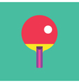 Ping Pong Icon Ping Pong Sports Ve vector image