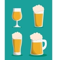 Beer glass drink design vector image