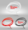 Abstract glossy speech bubbles vector image vector image