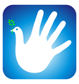 Peace hand vector image
