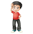 A stressed young man vector image