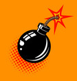 cartoon bomb with fire design element in vector image vector image