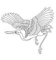 oriental stork bird tattoo vector image