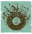 Retro invitation with musical instruments and vector image vector image