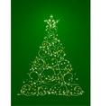 xmas tree illustration in vector vector image vector image