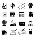 University icons vector image