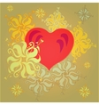 with abstract flowers and vector image vector image